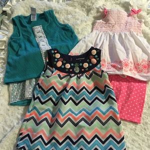 Lot of 3 Healthtex 4T Summer Outfits